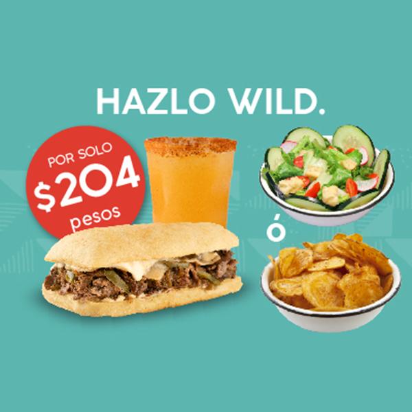 Hazlo Wild Cheese Steak